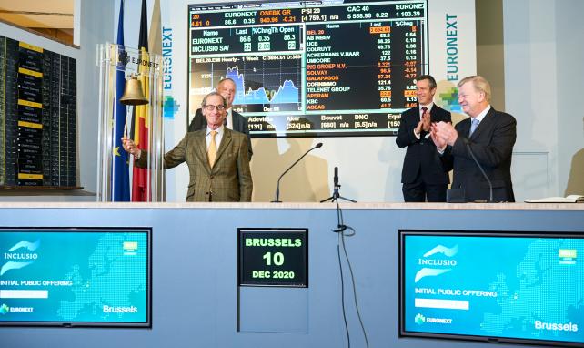 Inclusio devient public et rejoint la Franchise immobilière Euronext Bruxelles